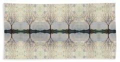 Colorado Cottonwood Tree Mirror Image  Beach Sheet