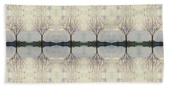 Colorado Cottonwood Tree Mirror Image  Beach Towel