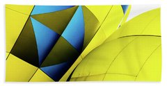 Colorful Abstract Hot Air Balloons Beach Towel