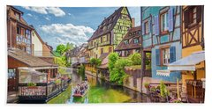 Colorful Colmar Beach Towel by JR Photography