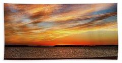 Colorful Sunset Beach Towel by Doug Long