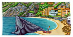 Colours Of Monterosso Beach Towel