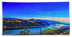 Columbia River Gorge Beach Towel by Nancy Marie Ricketts