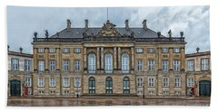Beach Towel featuring the photograph Copenhagen Amalienborg Palace by Antony McAulay