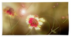 Coreopsis Flowers And Buds Beach Sheet