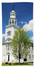 Beach Towel featuring the photograph Country Church by James Kirkikis