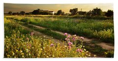 Countryside Landscape Beach Towel