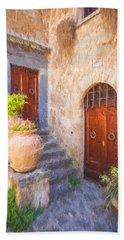 Courtyard Of Tuscany Beach Towel