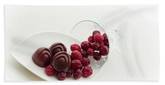 Cranberry Chocolate Beach Towel