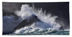 Crashing Wave At Clogher Beach Towel