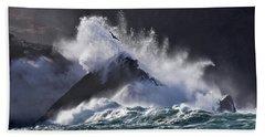 Crashing Wave At Clogher Beach Towel by Barbara Walsh