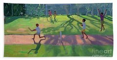 Cricket Sri Lanka Beach Sheet by Andrew Macara