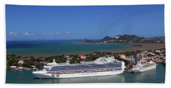 Beach Towel featuring the photograph Cruise Port by Gary Wonning