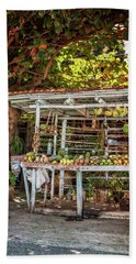 Beach Towel featuring the photograph Cuban Fruit Stand by Joan Carroll