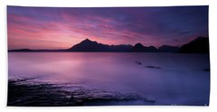 Cuillins At Sunset Beach Towel