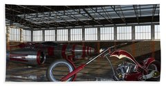 Custom Chopper  Beach Sheet by Louis Ferreira