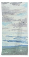 Dagrar Over Salenfjallen- Shifting Daylight Over Distant Horizon 9 Of 10_0029 Beach Towel