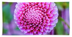 Beach Towel featuring the photograph Dahlia by Zaira Dzhaubaeva