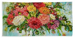 Dahlias Beach Towel