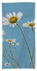 Daisies In The Wind Beach Sheet