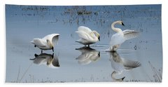 Dance Of The Trumpeter #1a Beach Towel