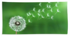 Dandelion Seeds Beach Towel