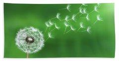 Dandelion Seeds Beach Sheet by Bess Hamiti