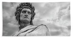 Beach Towel featuring the photograph Dante Alighieri by Sonny Marcyan