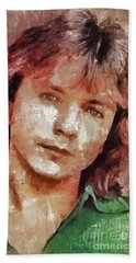 David Cassidy, Singer And Actor Beach Towel by Mary Bassett