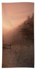 Dawn On The Lower Mountain Fork River Beach Sheet