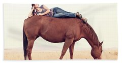 Daydreaming On A Horse Beach Towel