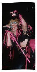 Dee Snider Of Twisted Sister Beach Towel