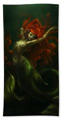 Deep Sea Little Mermaid Beach Towel