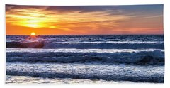 Beach Towel featuring the photograph Del Mar Sunset by Randy Bayne