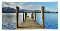 Derwent Water Pier Beach Towel