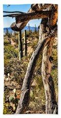 Desert Landscape Beach Sheet by Lawrence Burry