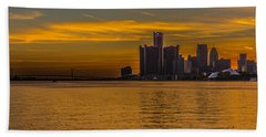 Detroit Sunset Beach Towel