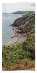 Devon Coastal View Beach Towel by Patricia Hofmeester