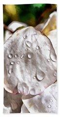 Dewdrops On Almond Tree Flower Beach Towel