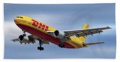 Dhl Airbus A300-f4 Beach Towel