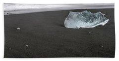 Diamonds Floating In Beaches, Iceland Beach Towel