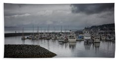 Discovery Harbour Beach Towel by Randy Hall