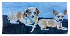 Dogs Resting Beach Towel