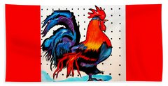 Doodle Do Rooster Beach Towel
