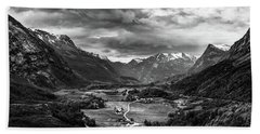 Beach Towel featuring the photograph Down In The Valley by Dmytro Korol