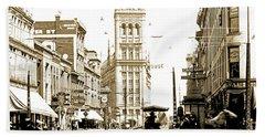 Downtown Milwaukee, C. 1915-1920, Vintage Photograph Beach Sheet