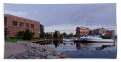 Beach Towel featuring the photograph Downtown Neenah by Joel Witmeyer