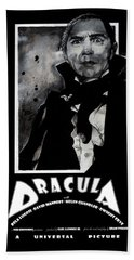 Dracula Movie Poster 1931 Beach Towel