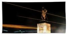 Drake's Statue Traffic Trails Iv Beach Towel