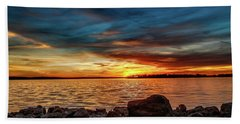 Dramatic Sunset Beach Sheet by Doug Long